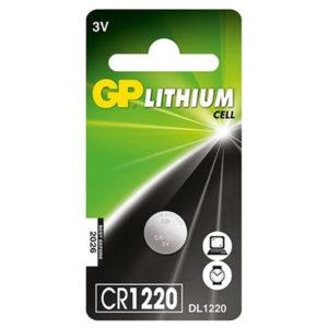 Pila De Litio 3V 36mAh GP CR1220