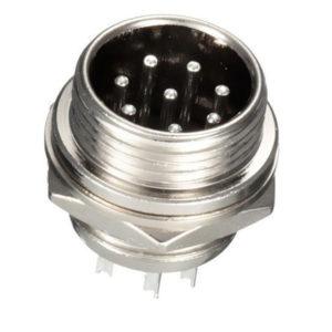 Conector Circular Chasis de 8 Pines Macho GX16