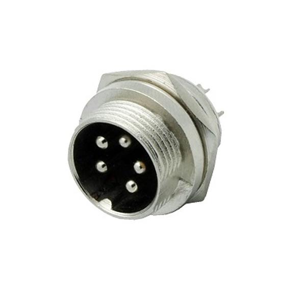 Conector Circular Macho De 5 Pines GX16