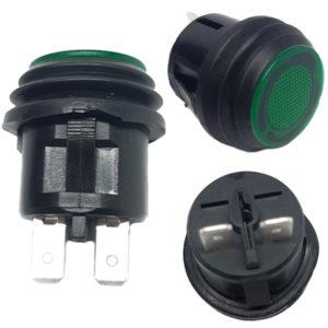 Interruptor Impermeable Verde 10A 125Vac SW735GN