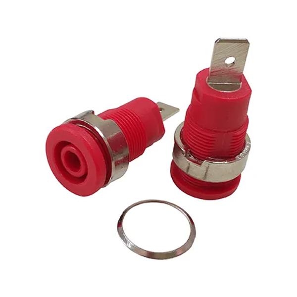 Jack Banana Chasis Color Rojo 4mm 1000V 32A JACKBR