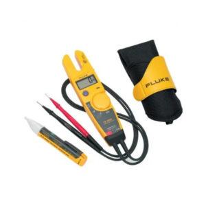 Kit de comprobador eléctrico Fluke T5-1000 con funda y comprobador de voltaje 1AC II