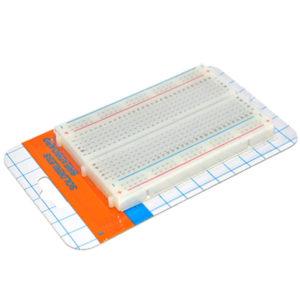 Mini Board Universal De 400 Puntos BOARD400, Material plástico ABS, Color blanco, Buses de terminales 300 puntos y de distribución 100 puntos