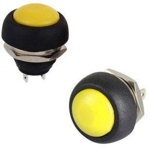 Pulsador Amarillo 12mm NO IP40 1A 250V SW736YE