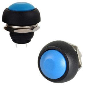 Pulsador Azul 12mm NO IP40 1A 250V SW736BL