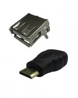 Conectores USB y HDMI